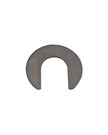 Plaque Inox contact à braser sur patte acier
