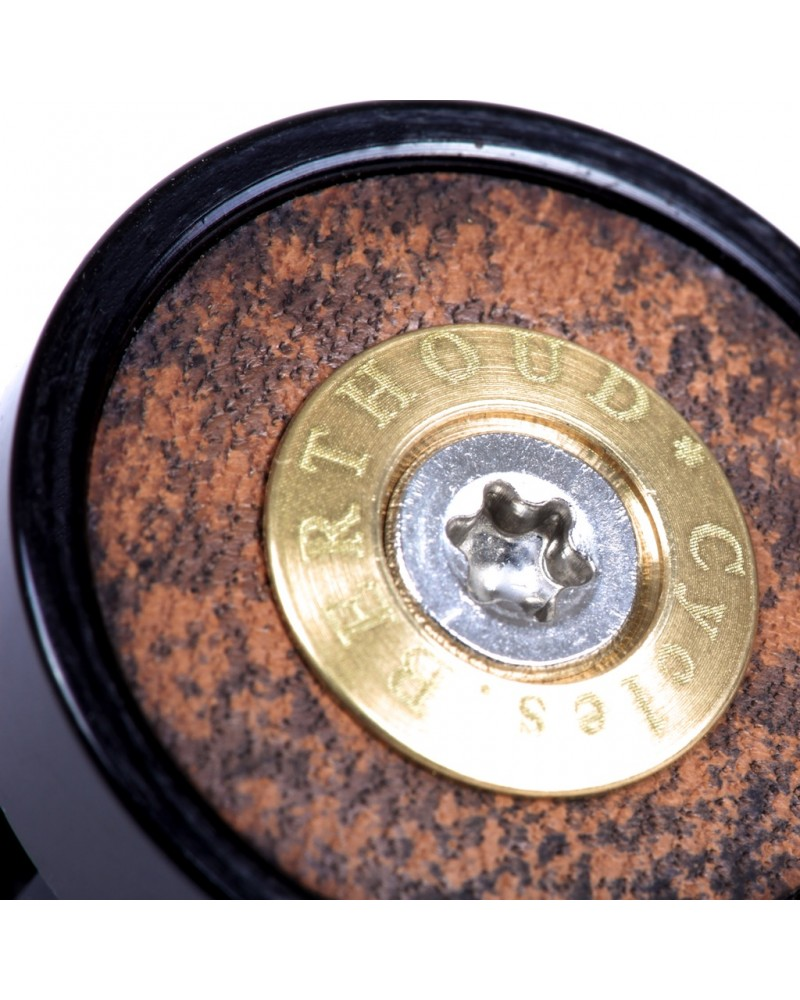 bar-end mirror berthoud randonneur cnc machined black anodized leather