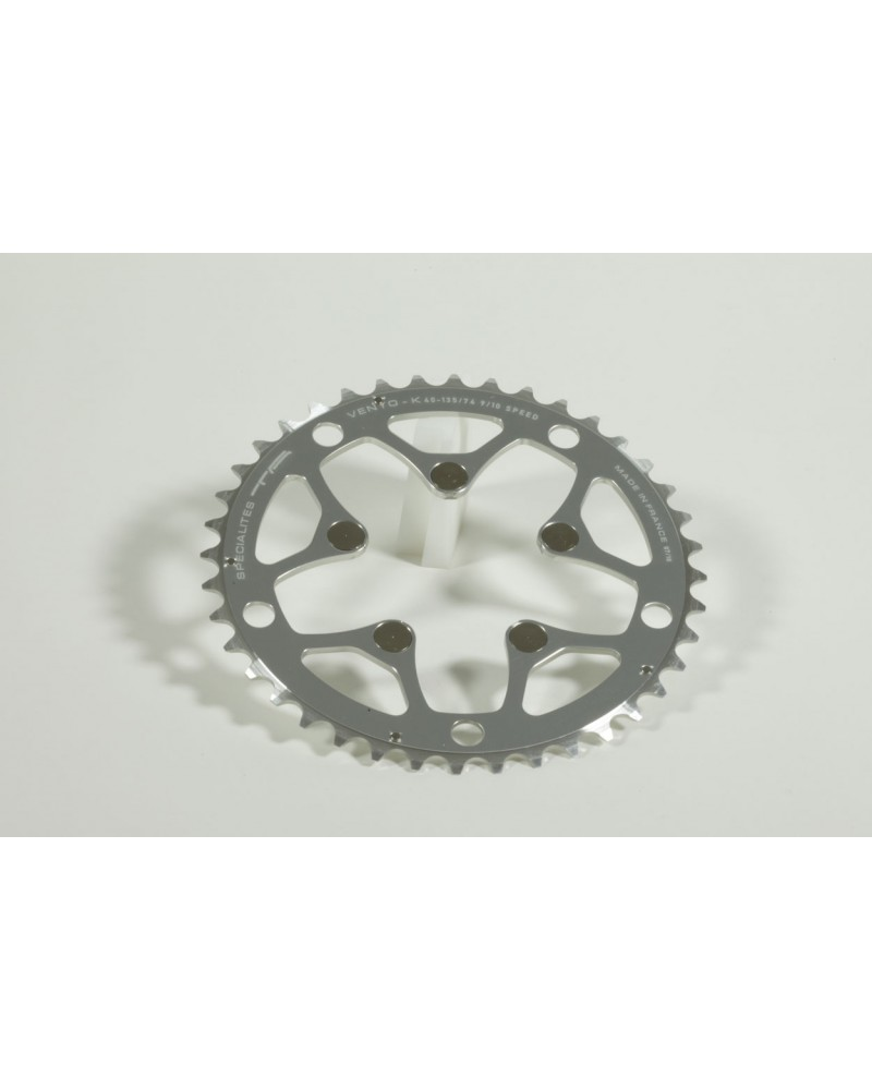 Chainring TA Alizé Ø130 DDS middle position silver