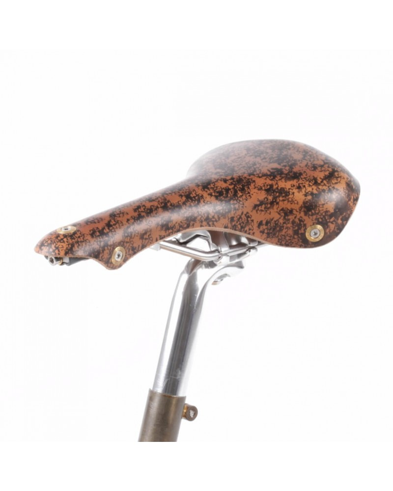Selle vélo cuir course Berthoud Soulor