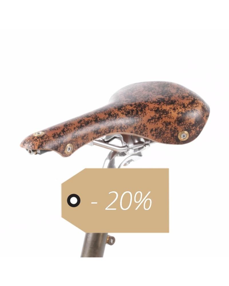 Selle vélo cuir course rails titane Berthoud Galibier