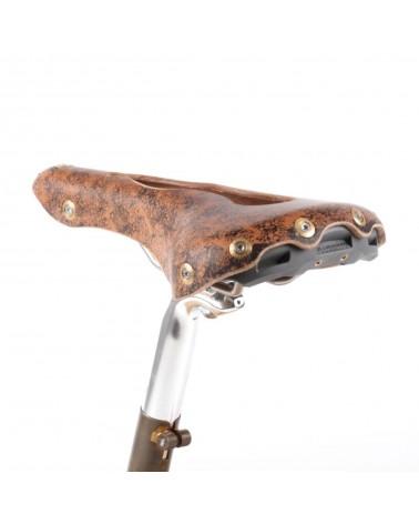 Selle vélo cuir ouvert nerf pudendal randonnée Berthoud Aspin