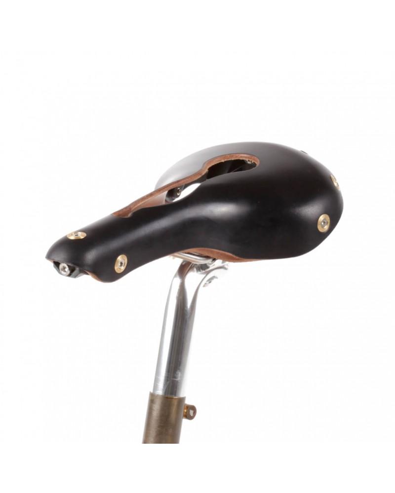 Selle vélo cuir ouvert nerf pudendal randonnée Berthoud Aravis