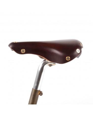 Selle vélo cuir dame randonnée Berthoud Marie Blanque