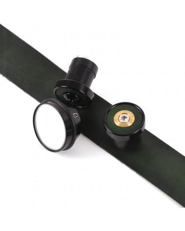 bouchons rétroviseur cintre randonnée berthoud cuir vert rouge édition limitée