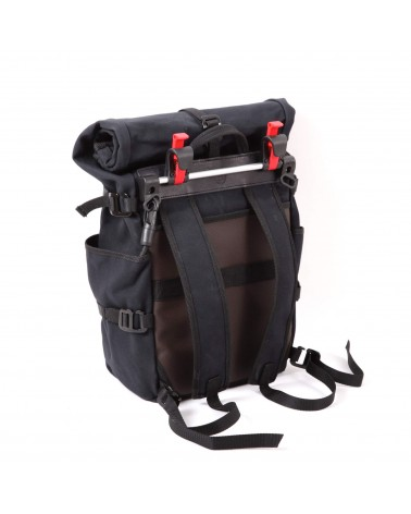 convertible berthoud urban commuter backpack pannier black cotton canvas