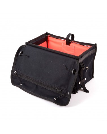 handlebar bag berthoud bike touring black coton canvas vegtan leather