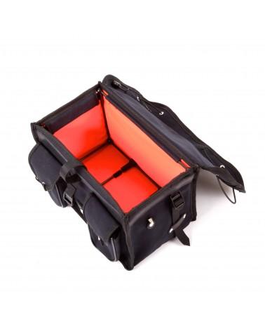 handlebar bag berthoud bike touring black coton canvas vegtan leather