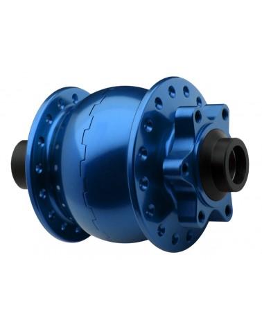 Moyeu dynamo SON 28 axe 15 110mm disque 6 trous bleu