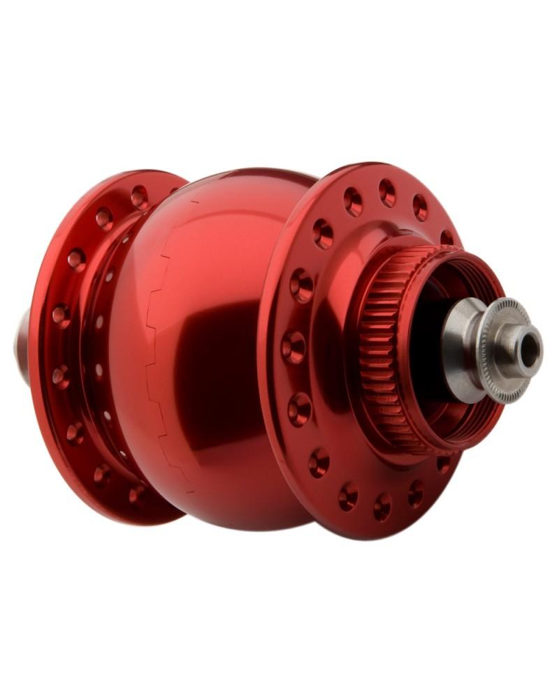 Moyeu dynamo SON 28 disque centerlock rouge