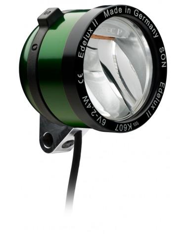 Phare Edelux vert LED vélo moyeu dynamo