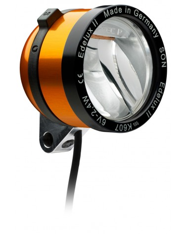 Phare Edelux LED vélo moyeu dynamo orange