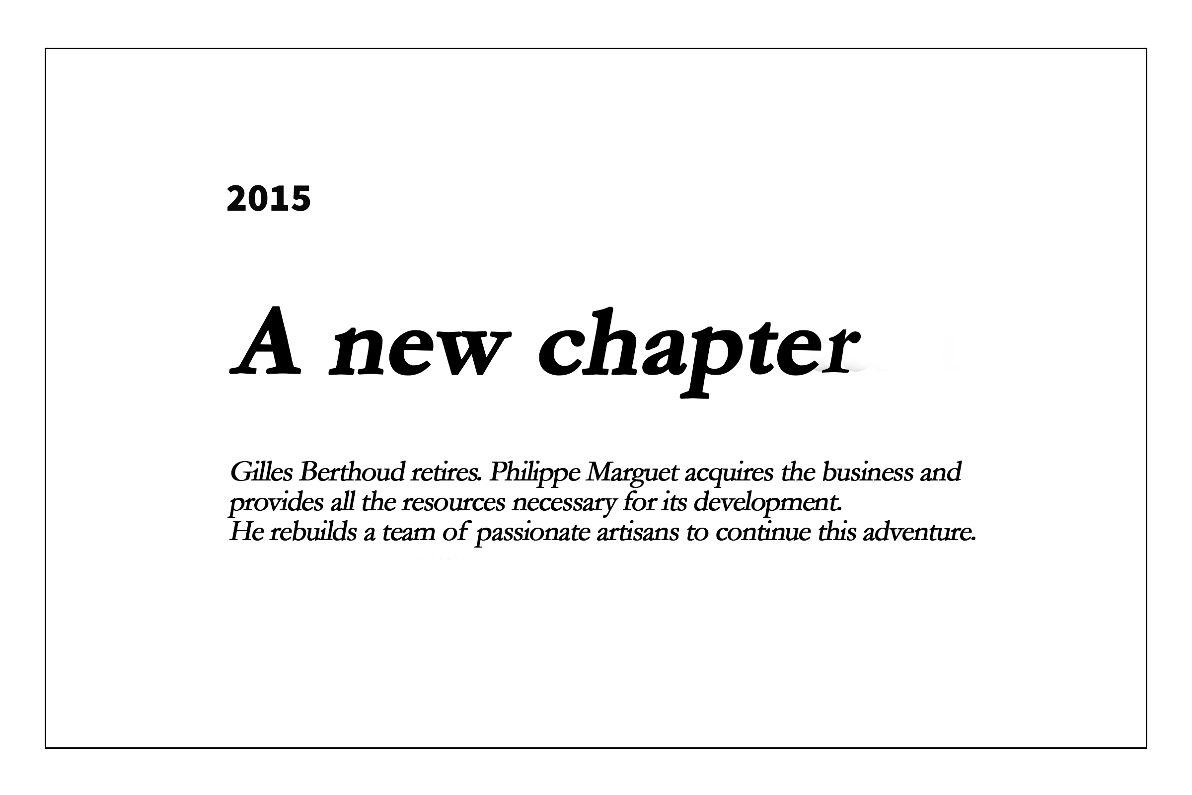 2015 - Un nouvel élan