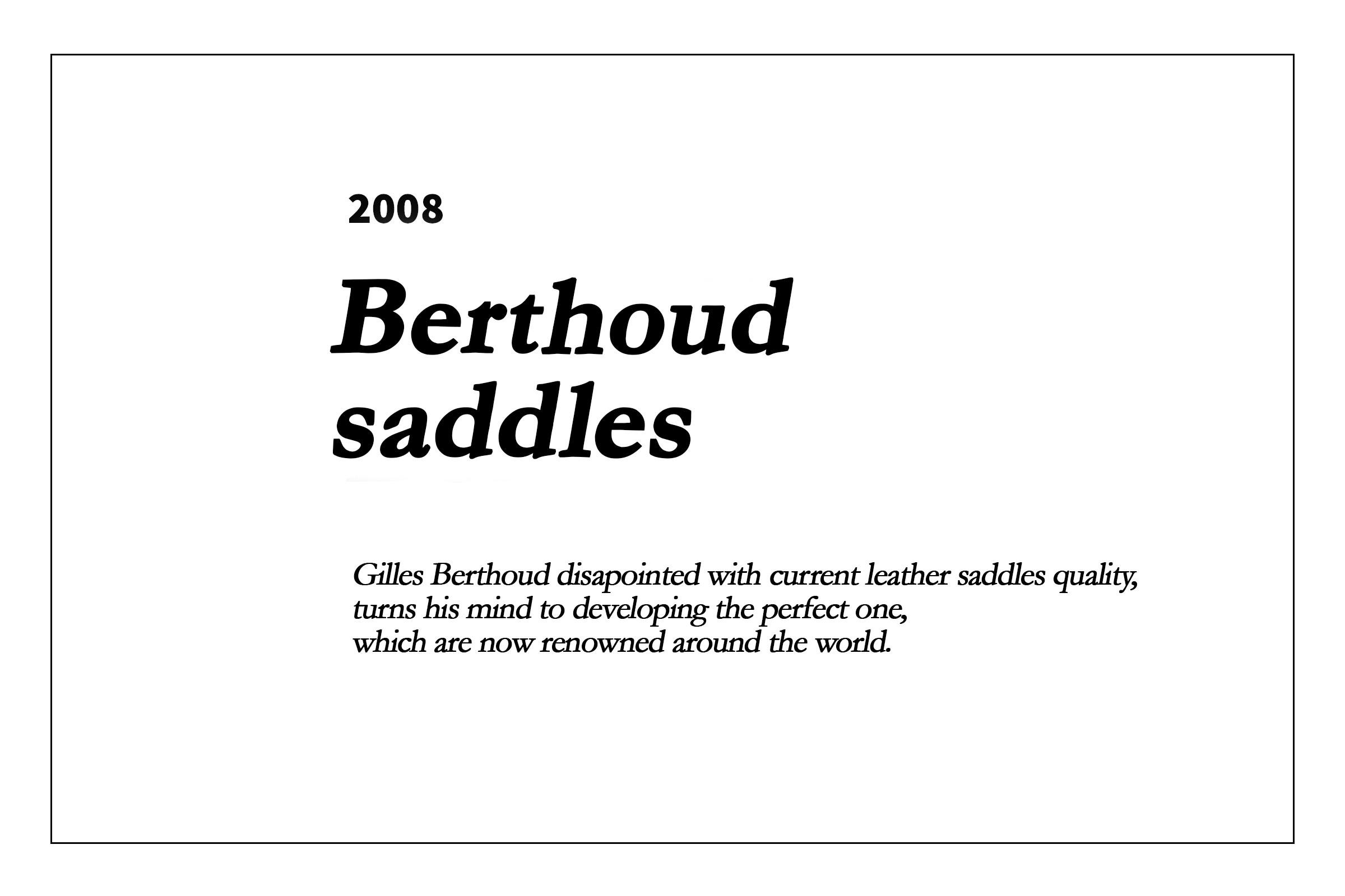 2008 - Les selles Berthoud