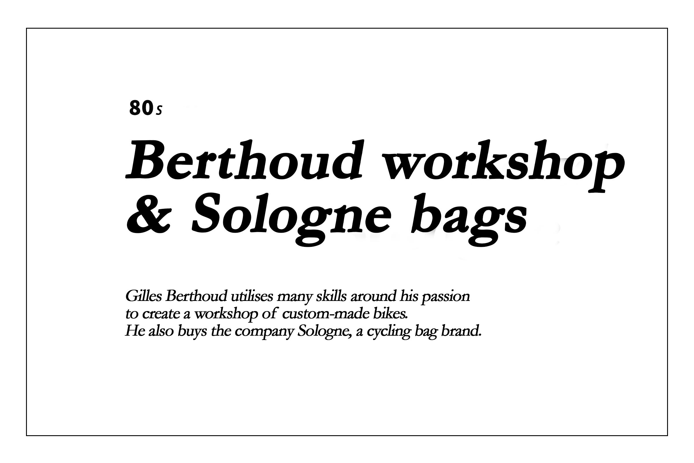Les années 80 - Atelier Berthoud et sacs Sologne