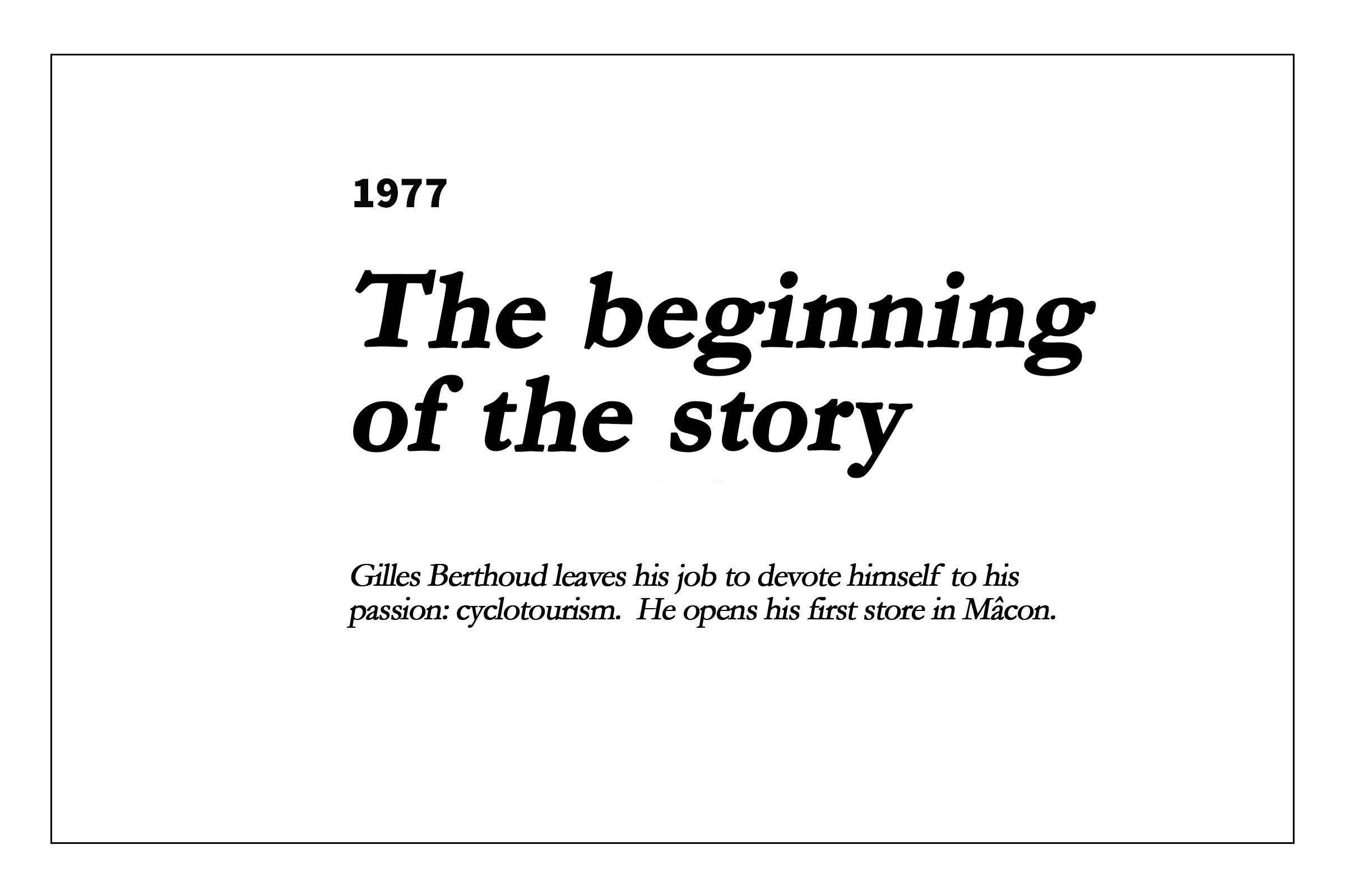 1977 - The begininning of the story